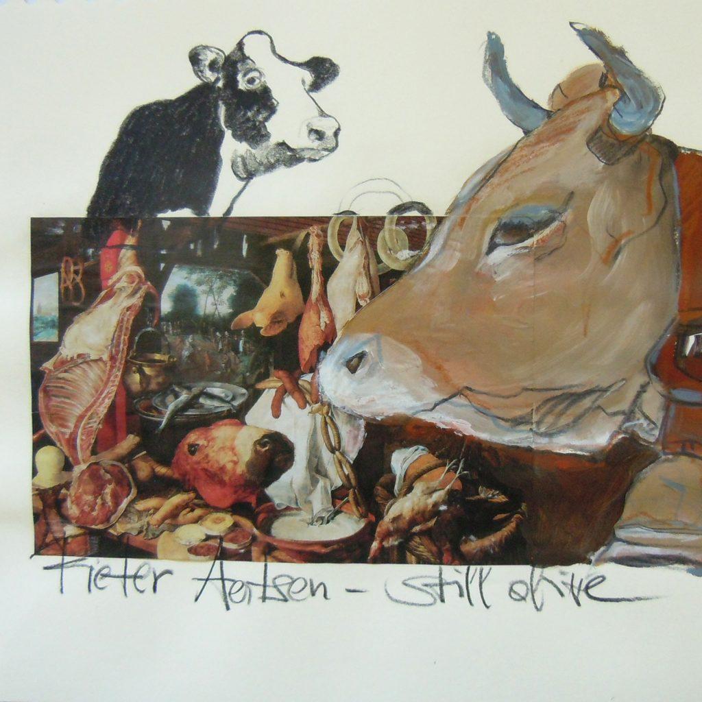Pieter Aertsen, still alive, 30 x 30 cm, Mischtechnik auf Papier