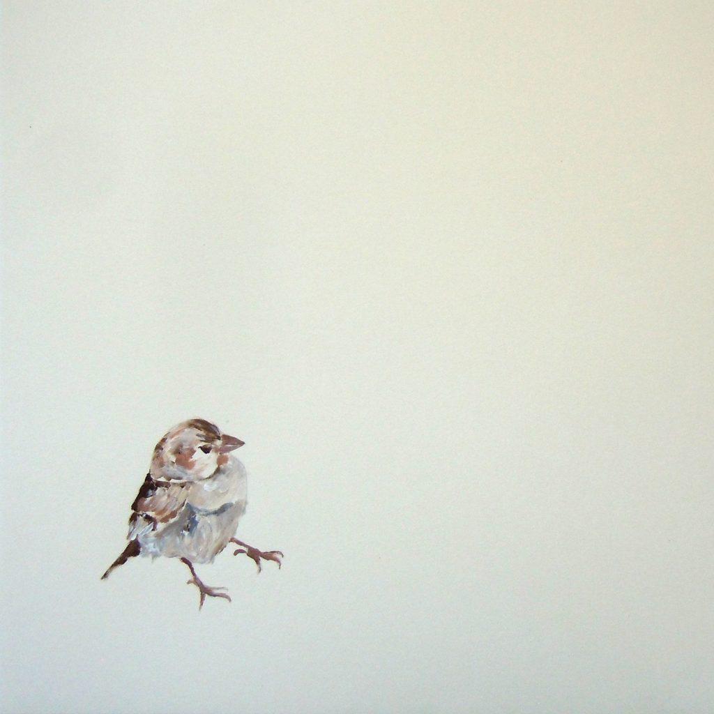 Alte Liebe I, 30 x 30 cm, Acryl auf Papier