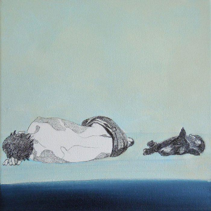 Das Große im Kleinen 3, 20 x 20 cm, Mischtechnik, 2012
