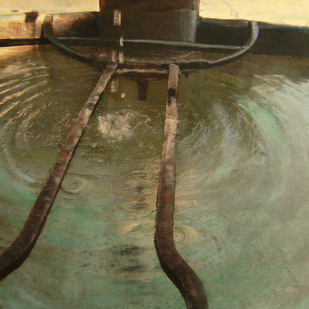 Flüssig gebannt, 30 x 30 cm, Mischtechnik, 2009