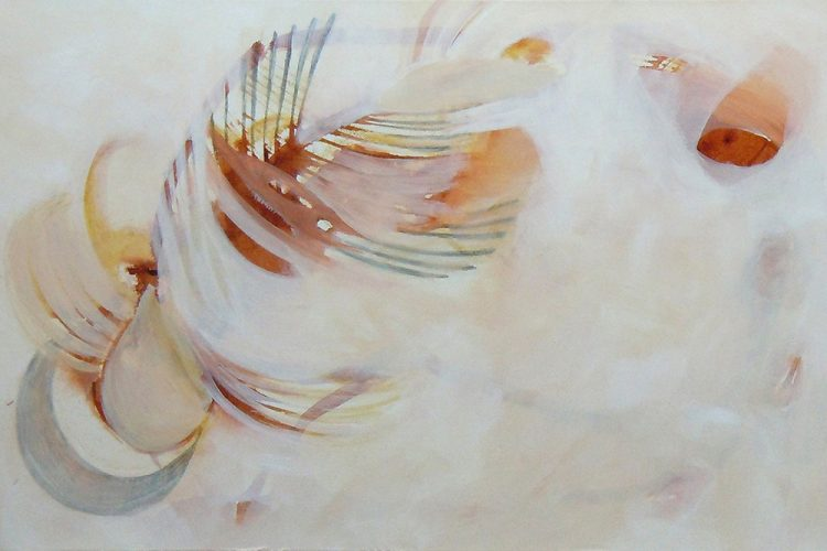 Spindeln 1 (Versuchungen), 40 x 60 cm, Mischtechnik, 2014