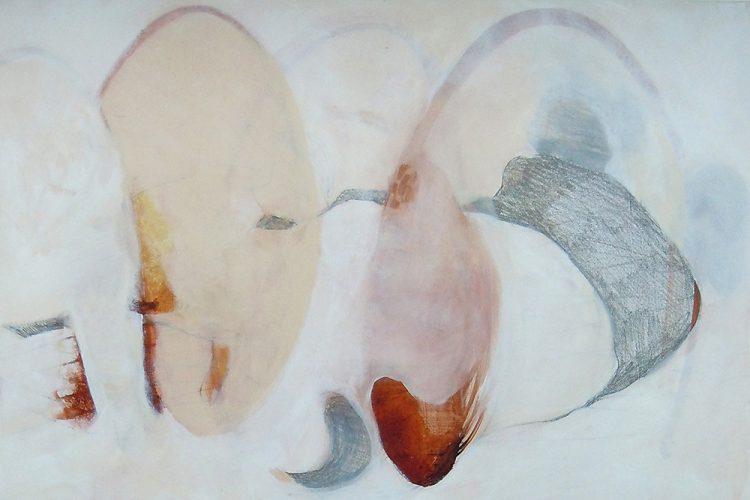 Spindeln 2 (Versuchungen), 40 x 60 cm, Mischtechnik, 2014