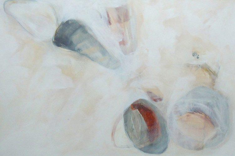 Spindeln 3 (Versuchungen), 40 x 60 cm, Mischtechnik, 2014