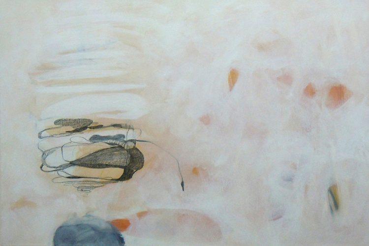 Spindeln 7 (Versuchungen), 40 x 60 cm, Mischtechnik, 2014