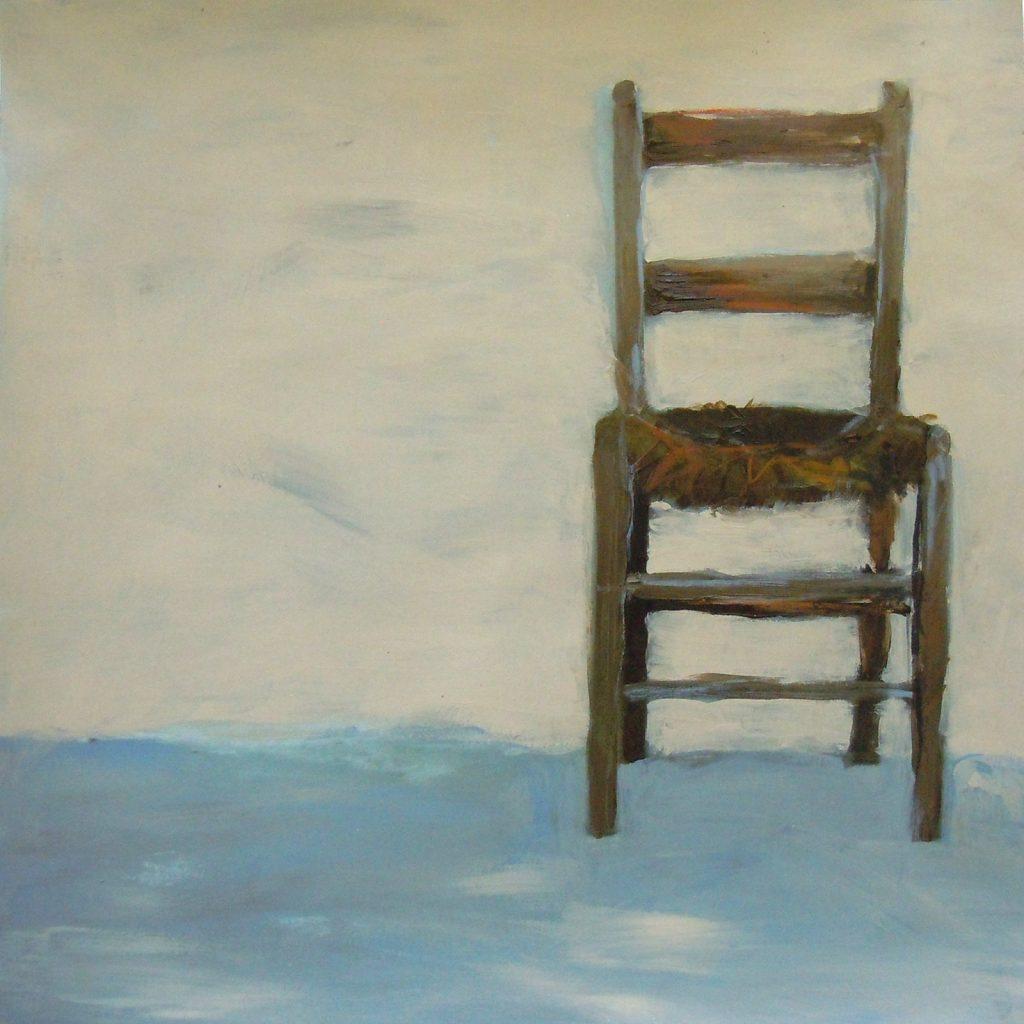 Stuhl, 30 x 30 cm, Mischtechnik auf Papier