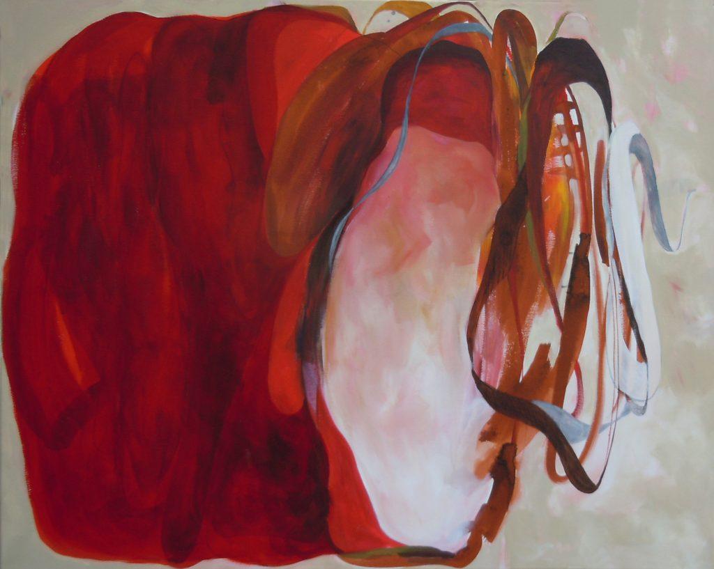 Spindeln final (Versuchungen), 100 x 80 cm, Acryl auf Leinen, 2014