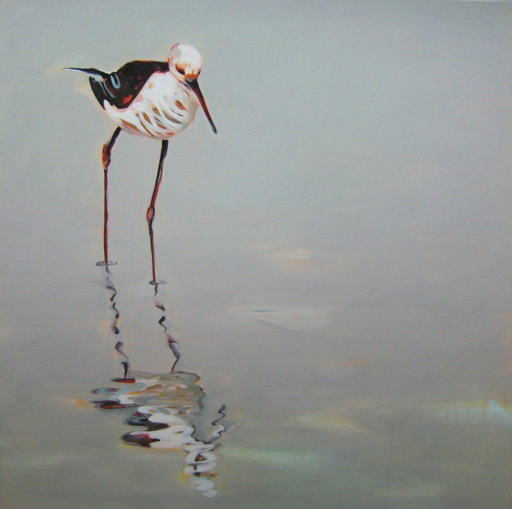Zerbrechliche Unschuld, 70 x 70 cm, Acryl auf Leinen, 2008