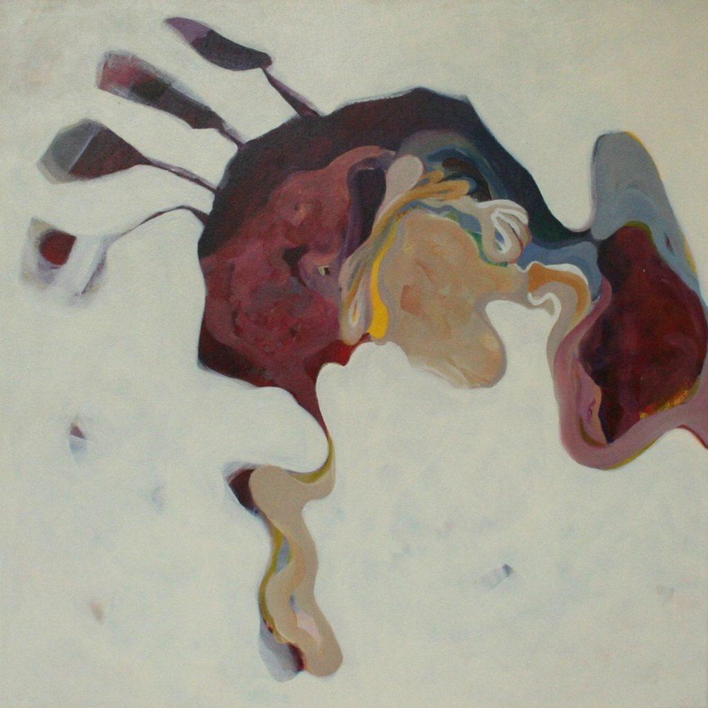Chicken ass be watchful, 70 x 70 cm, Acryl auf Leinen, 2008