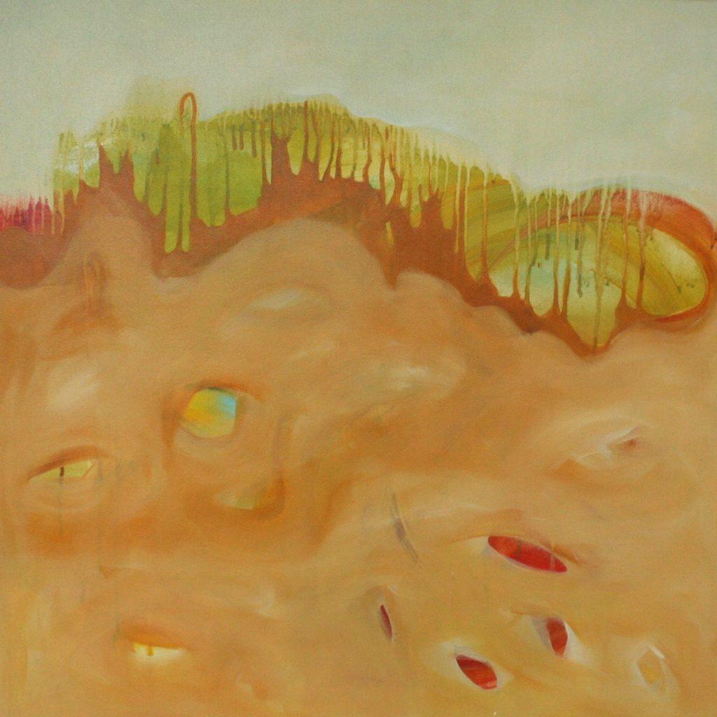 Torrente di lacrime, 70 x 70 cm, Acryl auf Leinen, 2008
