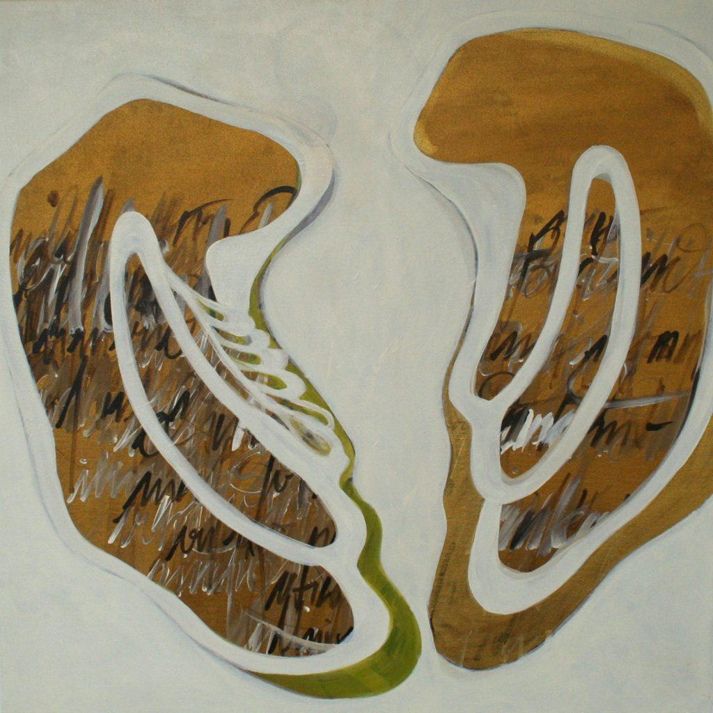 Il angelo è libero, 70 x 70 cm, Acryl auf Leinen, 2008