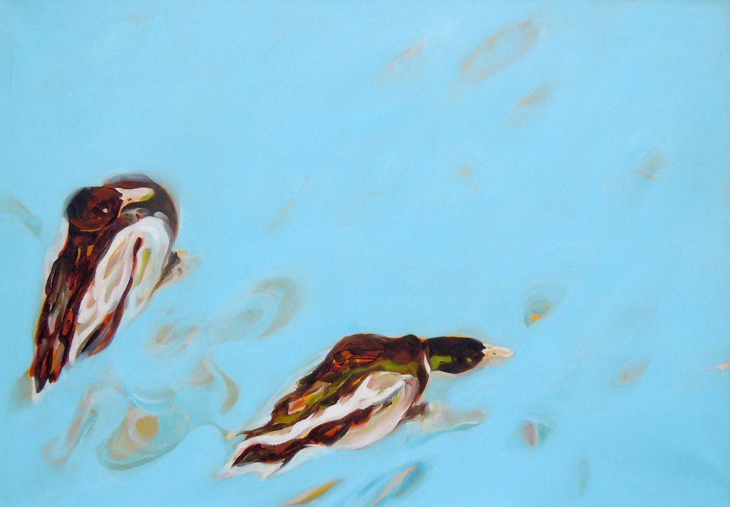Freiheit im Einklang, 70 x 100 cm, Acryl auf Leinen, 2008