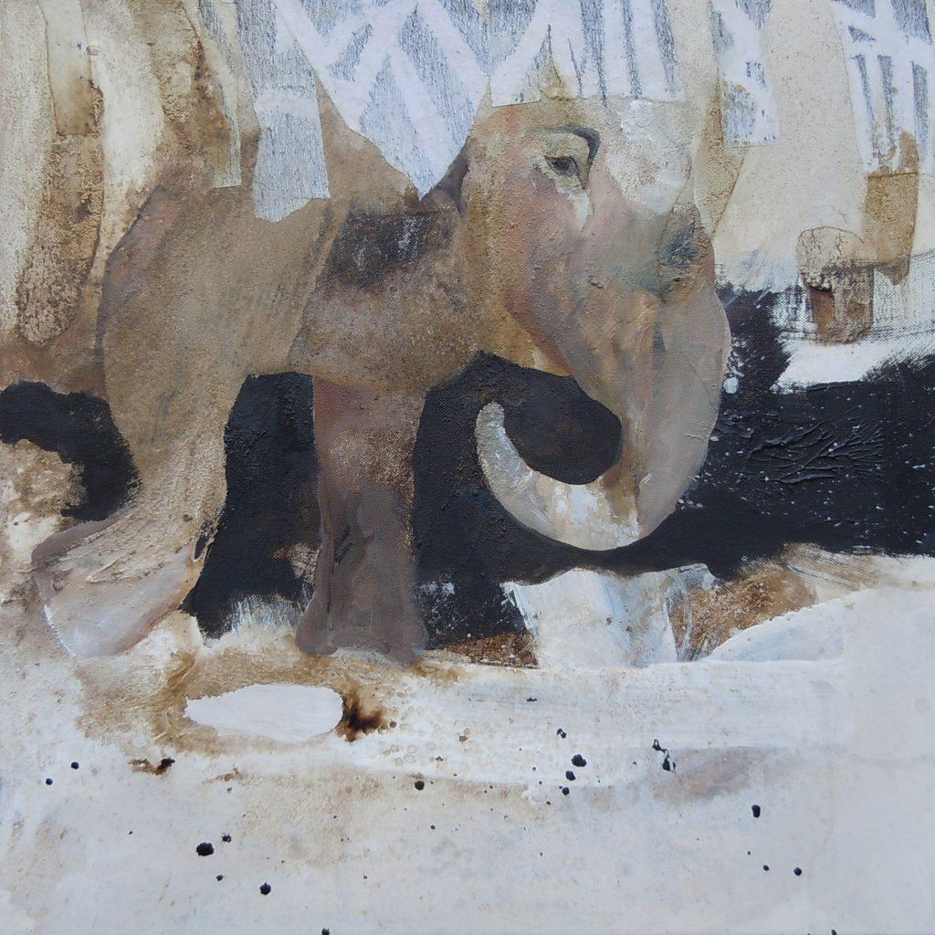 Dickicht, 50 x 50 cm, Mischtechnik, 2011