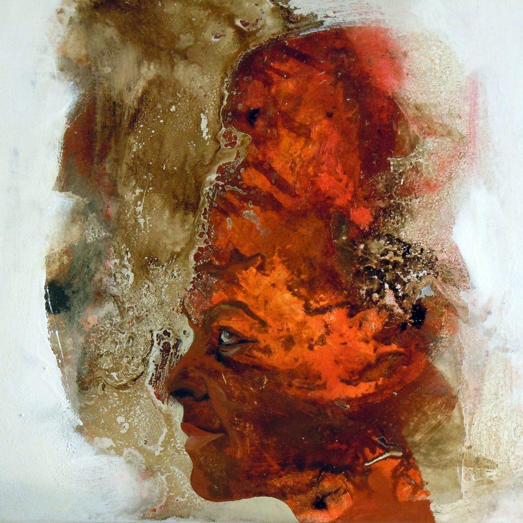 Afrika, 50 x 50 cm, Mischtechnik, 2011