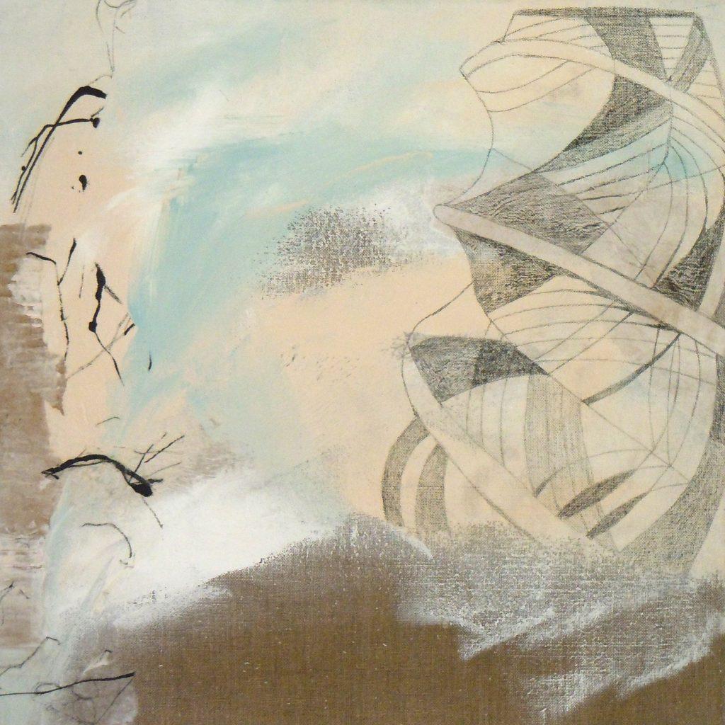 Himmelsleiter, 50 x 50 cm, Mischtechnik, 2010