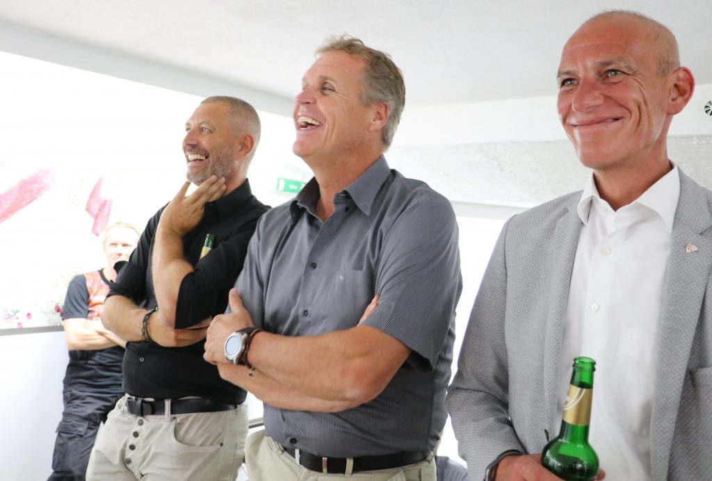 Vernissagenbesucher: Peter Mall, Martin Ebster, Gerhard Eichhorn