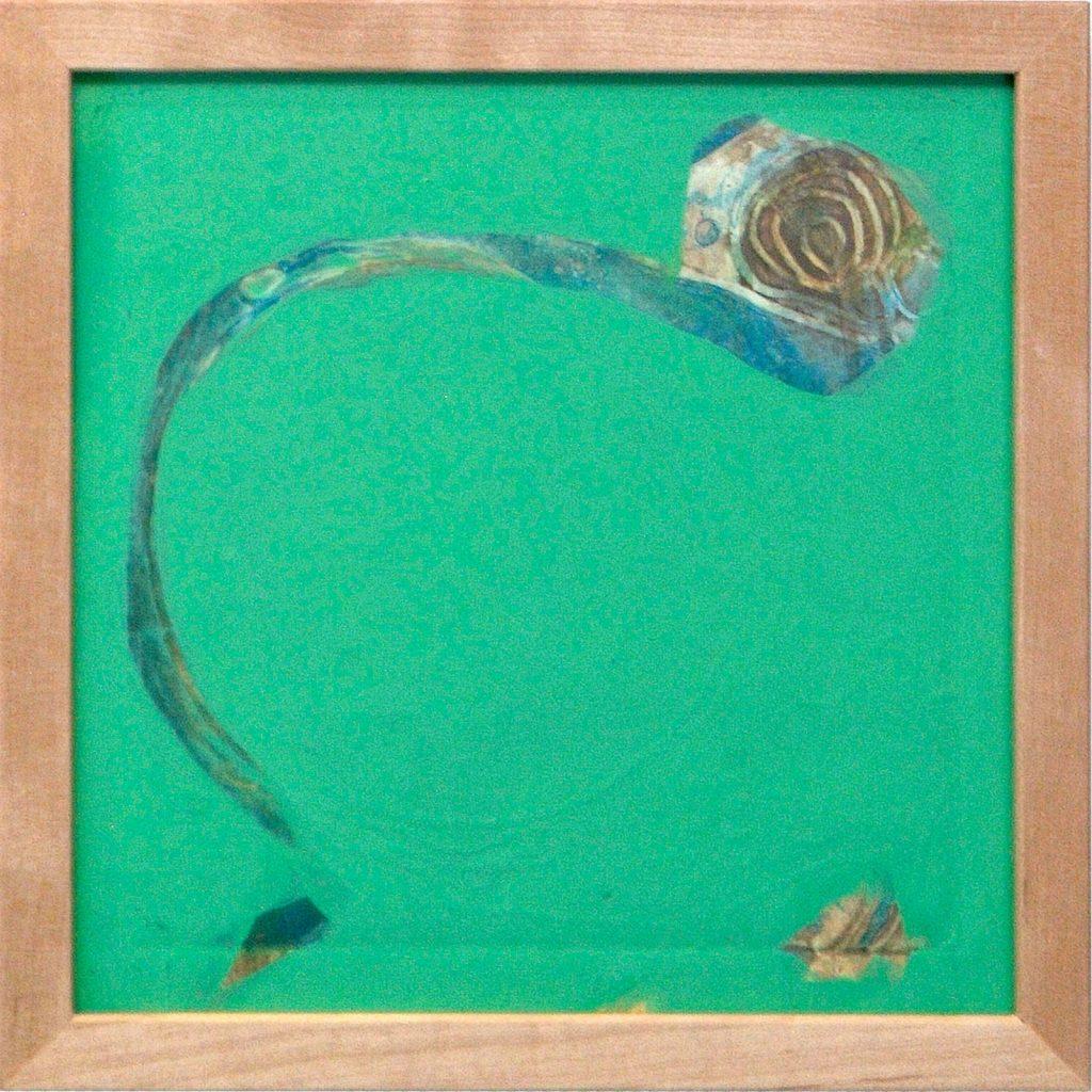 Ammonit, 20 x 20 cm, Mischtechnik, 2008