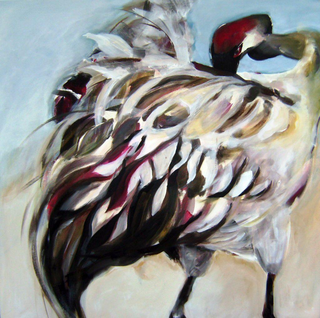 Azrael nach Geo, 80 x 80 cm, Acryl auf Leinen, 2007