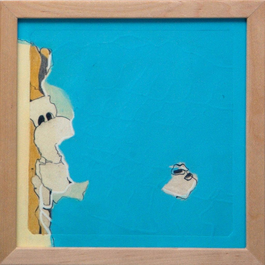 Blickrichtung, 20 x 20 cm, Mischtechnik, 2008
