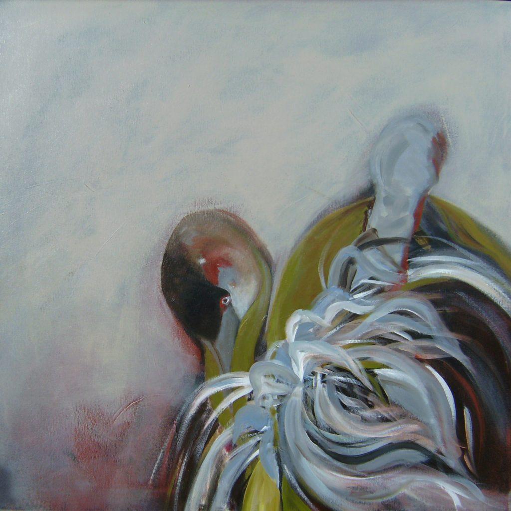 Dual, 80 x 80 cm, Acryl auf Leinen, 2007