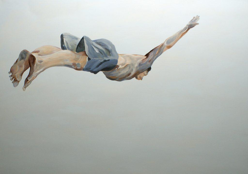 Flugkörper, 70 x 100 cm, Acryl auf Leinen, 2012