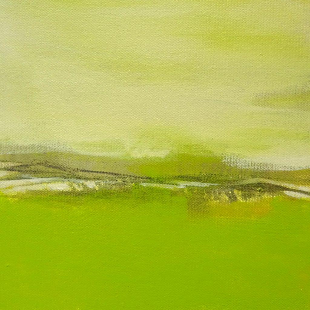 Green, 20 x 20 cm, Acryl auf Leinen, 2017