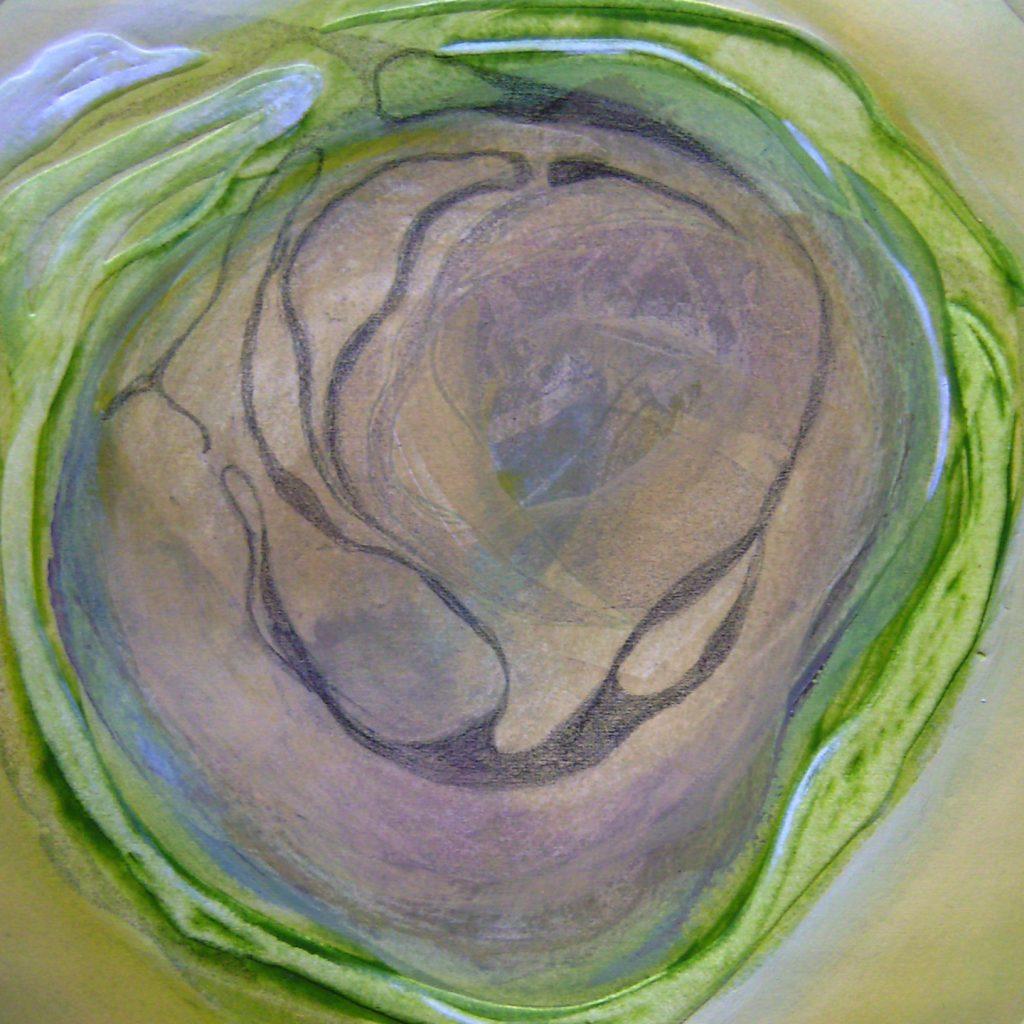 Green, 20 x 20 cm, Mischtechnik, 2008