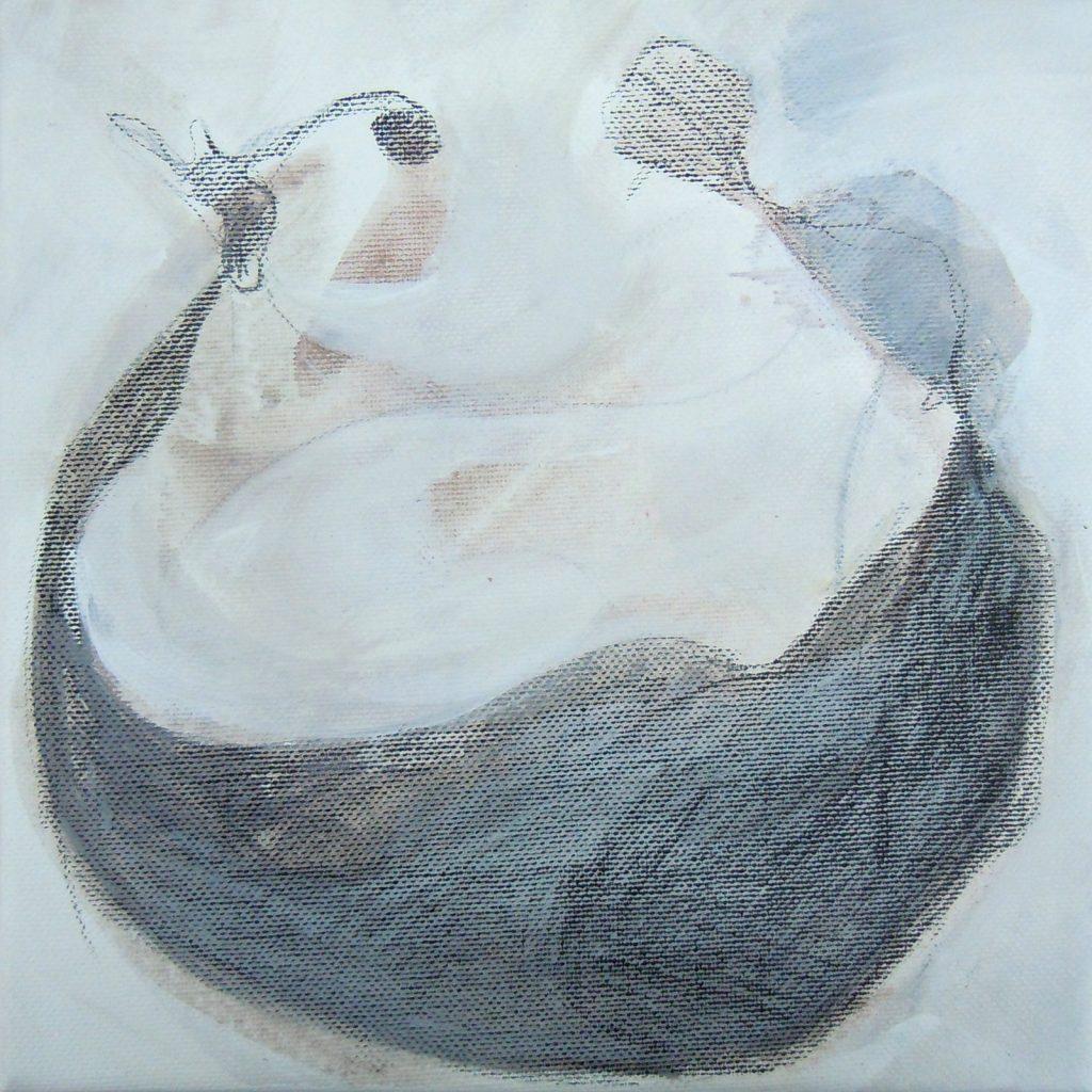Lebensräume 10, 20 x 20 cm, Mischtechnik, 2015