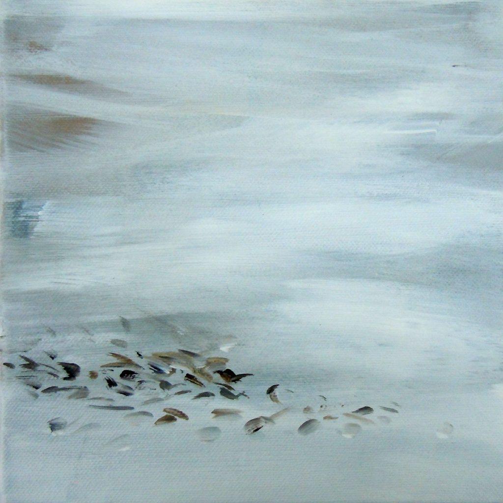 Lebensräume 12, 20 x 20 cm, Acryl auf Leinen, 2015