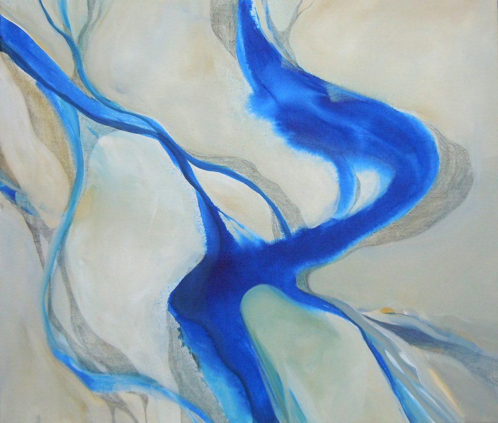Lebensräume 6, 60 x 70 cm, Acryl auf Leinen, 2015