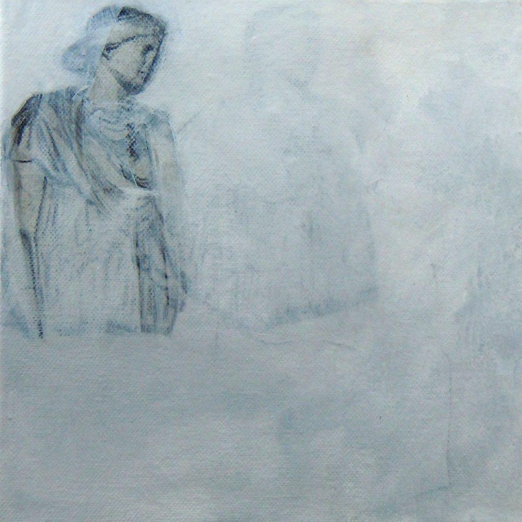 Reduktion - Schwerelosigkeit, 20 x 20 cm, Mischtechnik, 2012