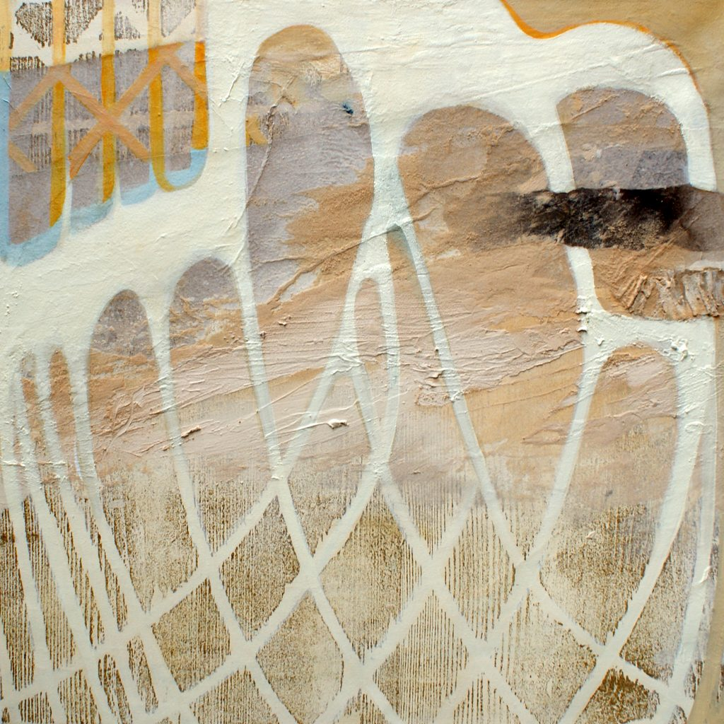 Luftbögen, 50 x 50 cm, Mischtechnik, 2010