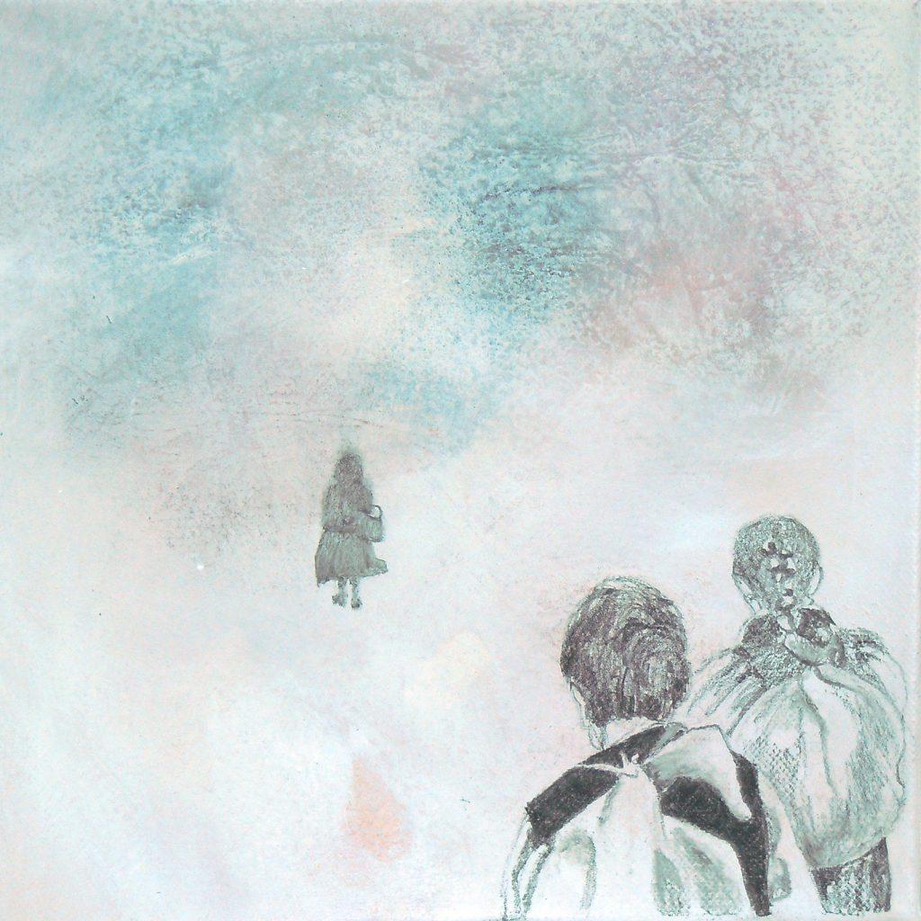 Momente 11, 20 x 20 cm, Mischtechnik, 2013
