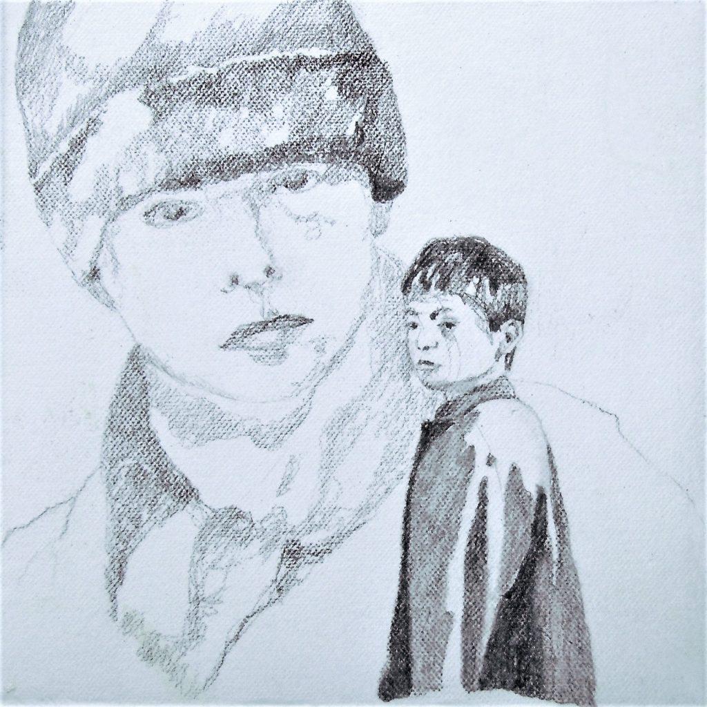 Momente 1, 20 x 20 cm, Mischtechnik, 2013