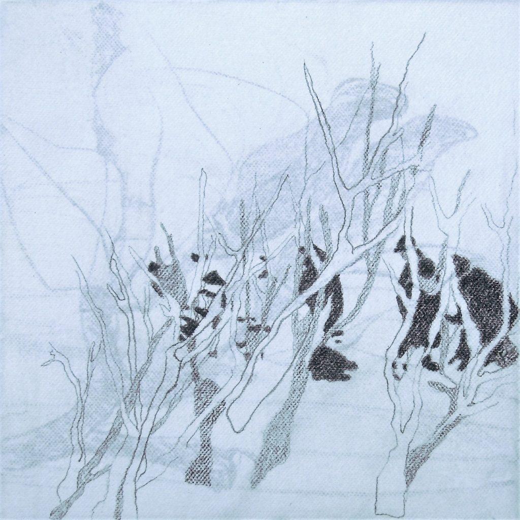 Momente 3, 20 x 20 cm, Mischtechnik, 2013