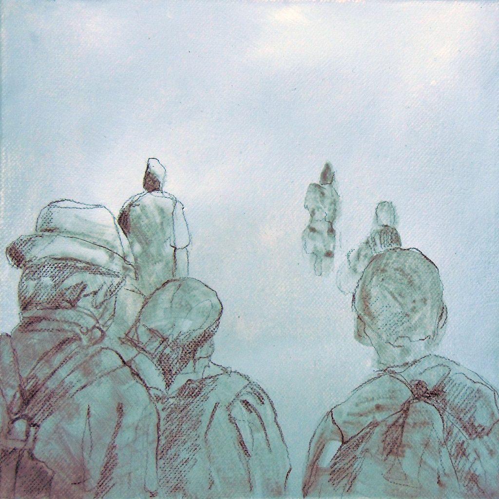 Momente 6, 20 x 20 cm, Mischtechnik, 2013