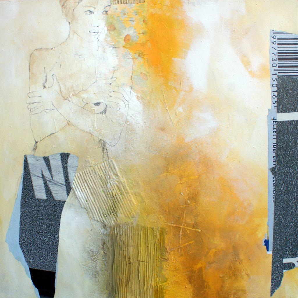 No, 100 x 100 cm, Mischtechnik, 2010