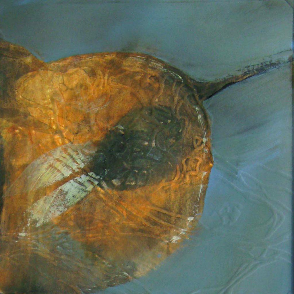 Planet der Hasen, 20 x 20 cm, Mischtechnik, 2008