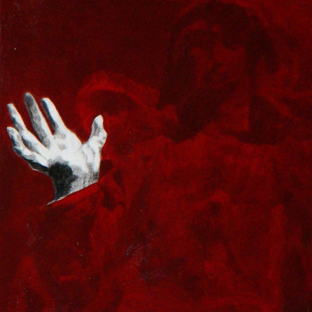 Roter Engel, 20 x 20 cm, Mischtechnik, 2012