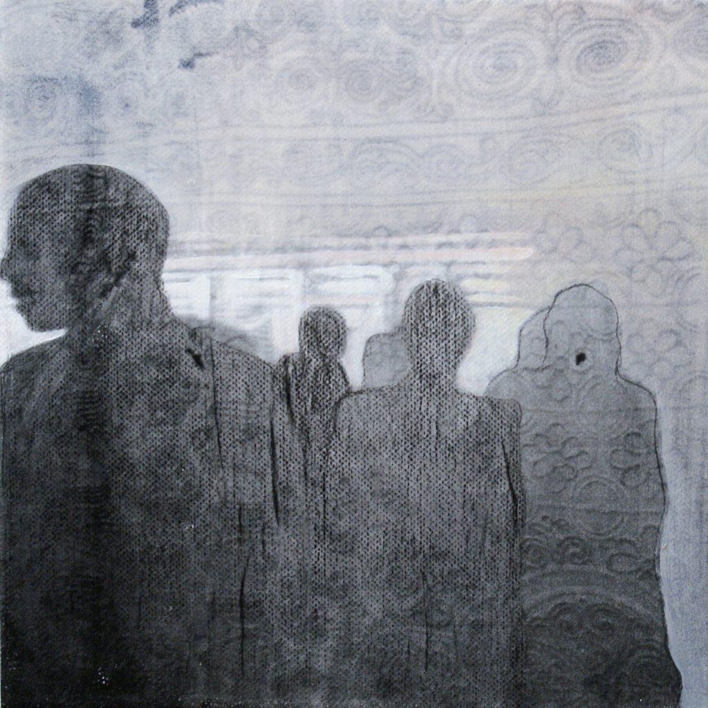 Schattenwesen, 20 x 20 cm, Mischtechnik, 2012
