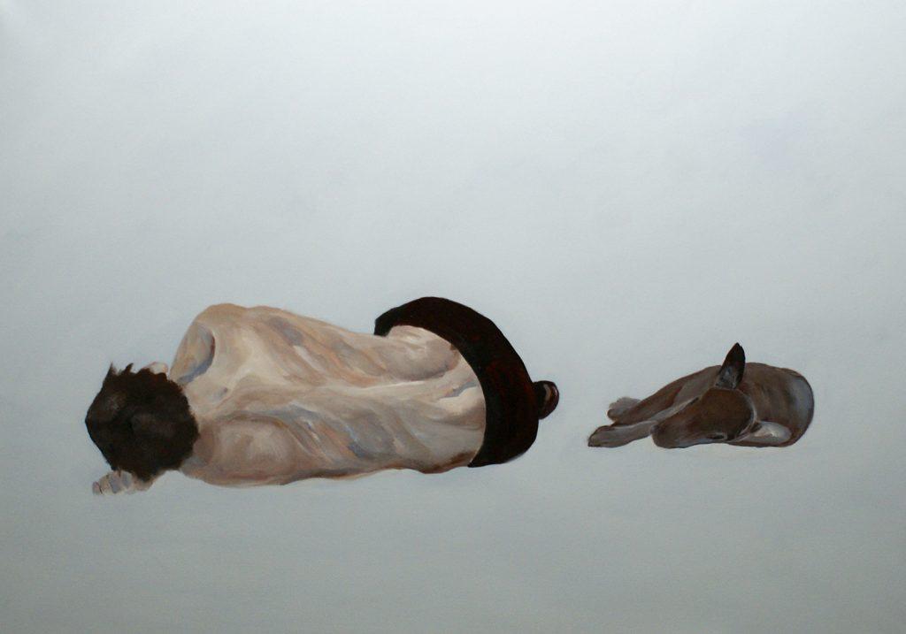 Schlaf, 70 x 100 cm, Acryl auf Leinen, 2012