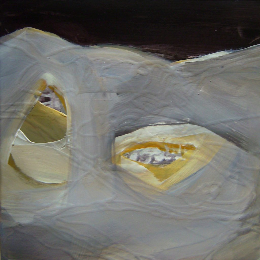 Slim inside, 20 x 20 cm, Mischtechnik, 2008