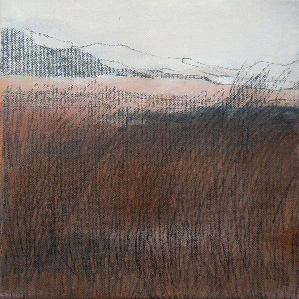 Fast Winter, 20 x 20 cm, Mischtechnik, 2012