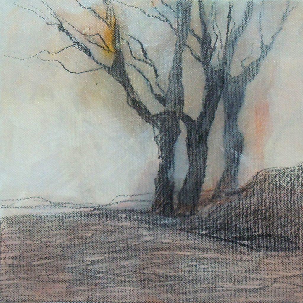Fast Winter 2, 20 x 20 cm, Mischtechnik, 2012