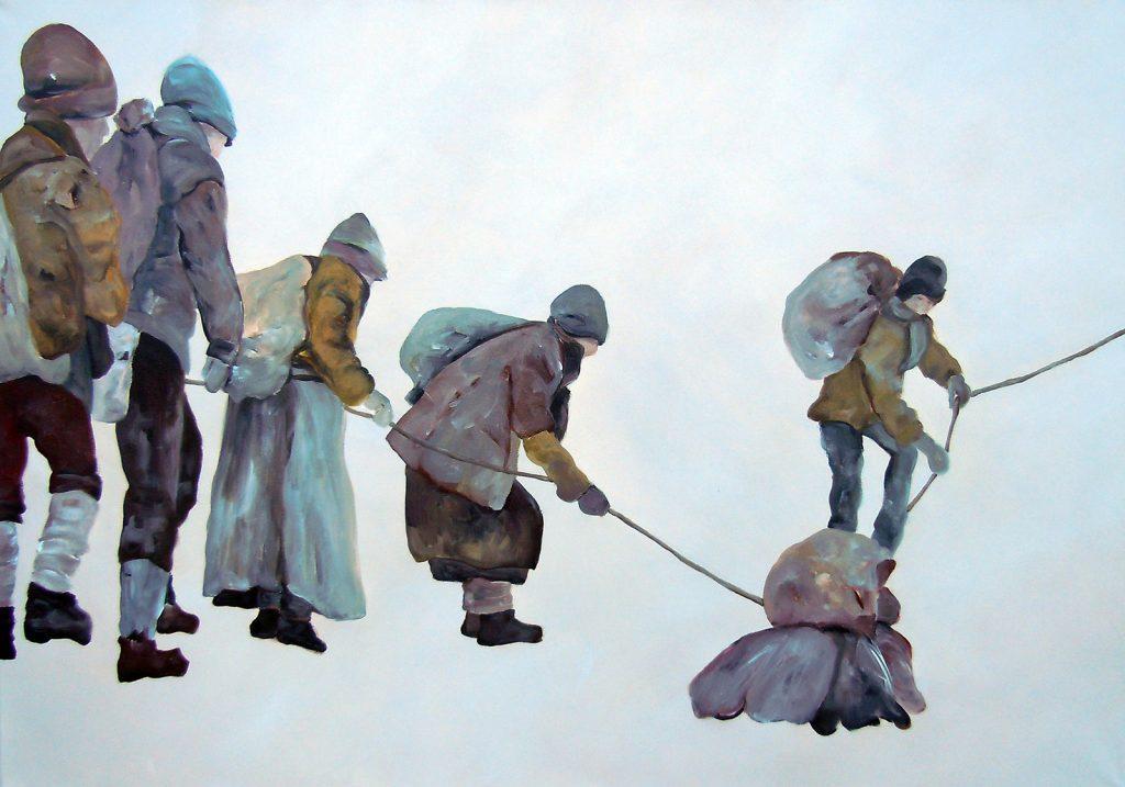 Unterwegs 1, 70 x 100 cm, Acryl auf Leinen, 2013