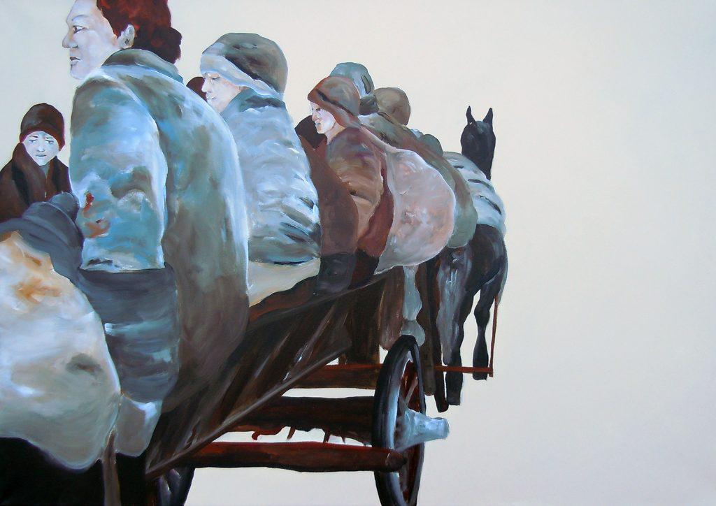 Unterwegs 2, 70 x 100 cm, Acryl auf Leinen, 2013