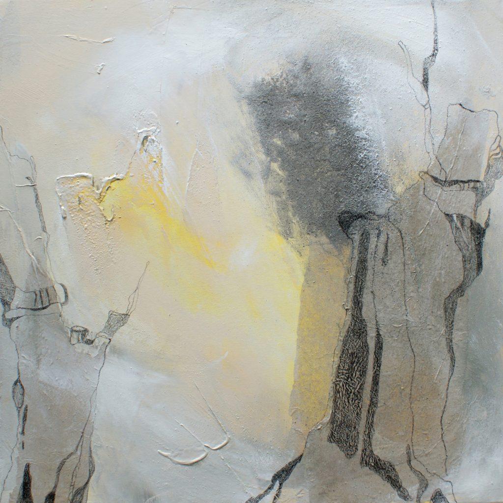 Verwurzelte Leichtigkeit, 50 x 50 cm, Mischtechnik, 2010