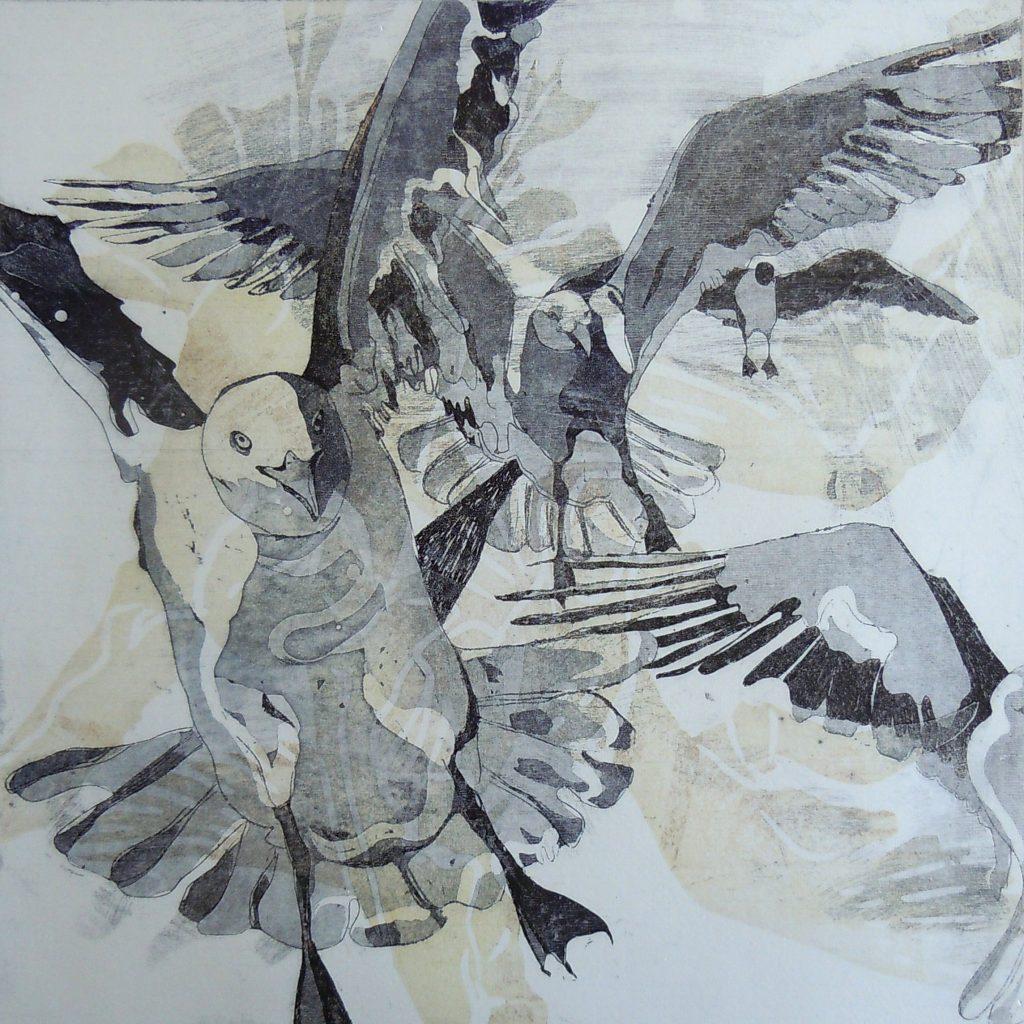 Gefilde, 20 x 20 cm, Radierung, AL 9, 2008