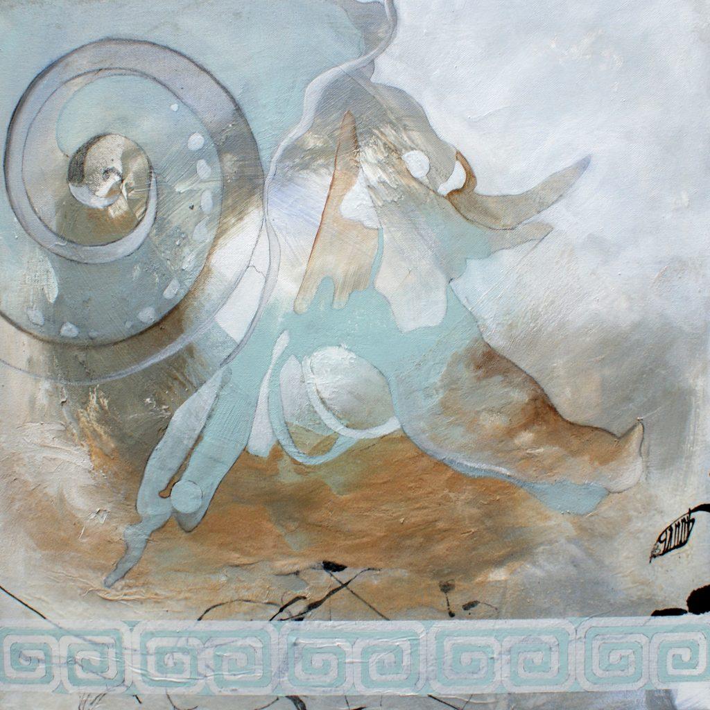 Wasserwelten, 50 x 50 cm, Mischtechnik, 2010
