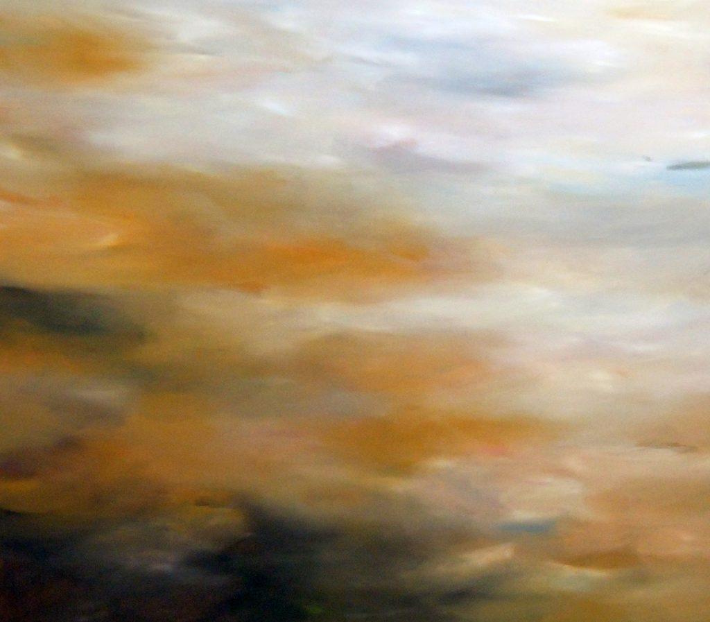 Zusammenfluss - Zwischenfluss, 115 x 130 cm, Acryl auf Leinen, 2015
