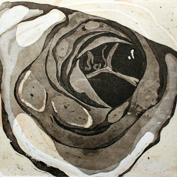 Breath, 20 x 20 cm, Radierung, Linolprägung, 2007
